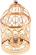 MagiDeal Metal Tealight Candle Holder Hanging Lanterns Creative Birdcage Wedding Home Table Decoration-3.15 x 5.51inch - A...