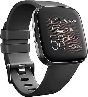 SAPU Compatible with Fitbit Versa 2/Versa/Versa Lite, Soft Silicon Sport Bands Wristbands Accessories for Women Men Black