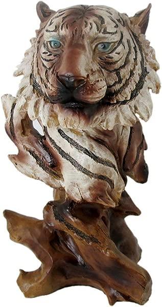 动物野生动物收藏人造木材白虎头半身像