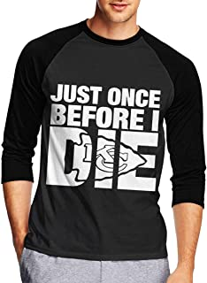 Mens Long Sleeve T Shirts, Just Once Before I Die Long Sleeve Tee Classic Casual Jersey
