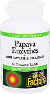 Natural Factors - Papaya Enzymes, Promotes Healthy Digestion, 60 Chewable Tablets