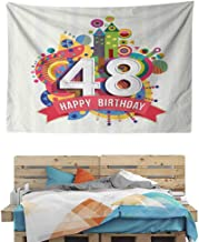 HuaWuChou Pop Art Funk Age Day Tapestry Kids, Tapestry Clips for Hanging, 36W x 24L Inches
