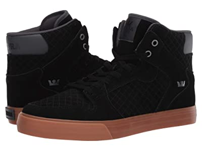 Supra Vaider (Black/Dark Grey/Gum) Men