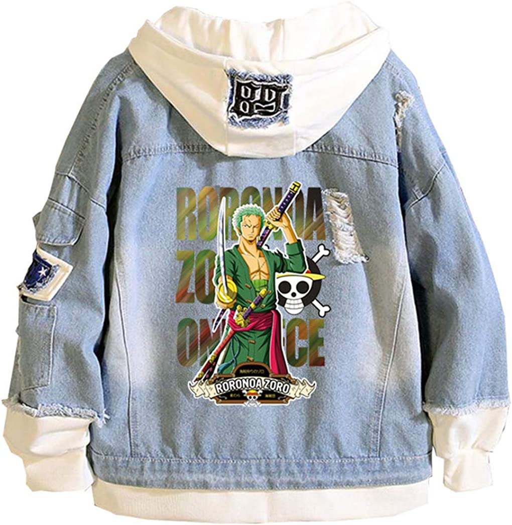 Gumstyle Anime One National products Piece Monkey D Industry No. 1 Denim Jacket Luffy Hoodie Adul
