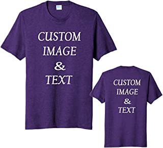 Custom Blend Tee, Print Front and Back, Upload Photos and Type Text, Custom Gifts, Design Your Own