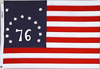 Bennington Spirit of '76 Indoor Outdoor Sewn Cotton Flag Grommets 3' X 5'