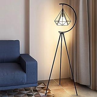BXZ Lampadaire en métal châssis métallique triangulaire lampe sur pied pour salon lampadaire rustique éclairage intérieur ...