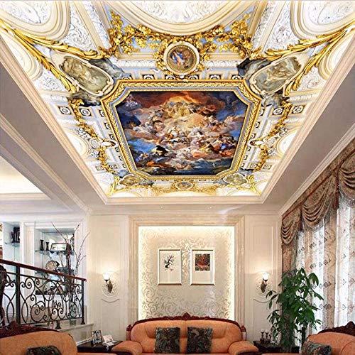 JHLP aangepaste muurschildering behang in Europese stijl engel olieverfschilderij wandschilderij woonkamer hotel plafond wandschilderij luxe wooncultuur Fresko 1 m².