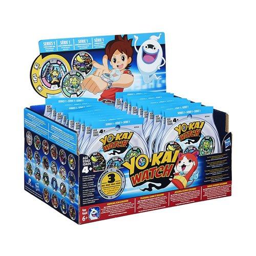 Yo-kai Watch 13820- Medallas Sorpresa al Azar (Caja de 24Paquetes)