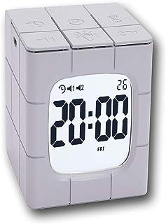 Digital Rubik's Cube Clock with Calendar, 2 Alarm Settings, Night Light, 1-60 Minutes Timer. 10 Level Brightness.