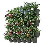 Worth Garden Jardinières Verticales à arrosage Automatique de 36 Poches en Paquet de 12 pièces avec système d'égouttage