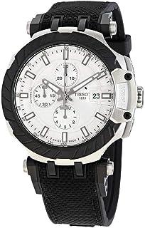ساعة تيسو تي ريس موتوجي بي كرونوغراف أوتوماتيك مينا فضية للرجال T1154272703100