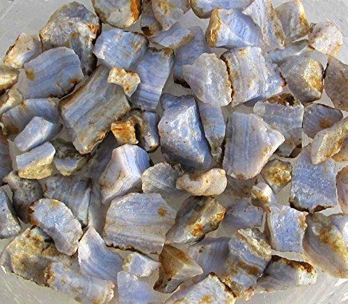 Edel-Depot Blauer Chalcedon, Streifenchalcedon, 200g. Rohsteine 20-40mm
