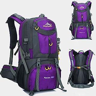 Mochila de 50 litros, ideal para deportes al aire libre, Senderismo, Trekking, Camping Travel, Escalada. Bolso impermeable del alpinismo, Daypacks que suben del recorrido, mochila, mochila.