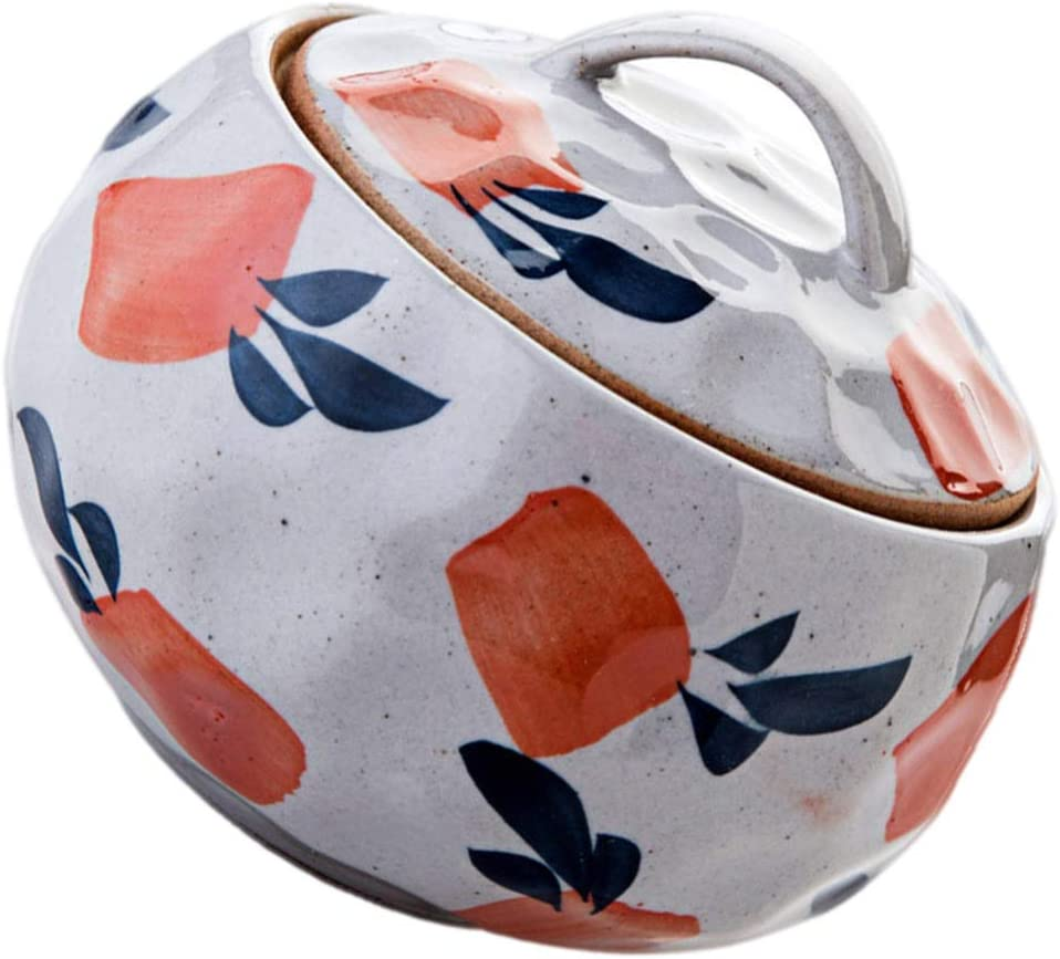 HEMOTON Small Very popular Ceramic Stew Pot with Bowl Style Japanese Lid Wholesale Soup