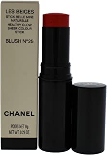 Chanel Les Beiges Healthy Glow Sheer Colour Stick Blush 25 for Women, 0.28 Ounce