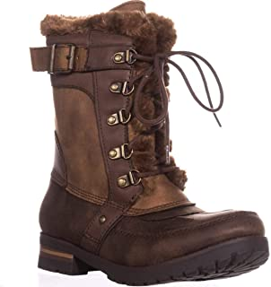 Womens DANLEA Round Toe Ankle Cold Weather Boots, BNCFB, Size 8.0 Cognac