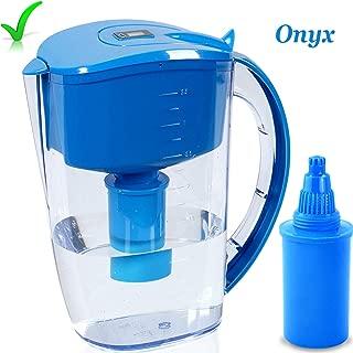 High PH Alkaline Water Filter Pitcher, Alkaline Water Ionizer, Alkaline Water Maker 3.5 Liter, Unique Multi-Stage Filtration BPA Free, Long Lasting Filter, Onyx High PH Alkaline Water