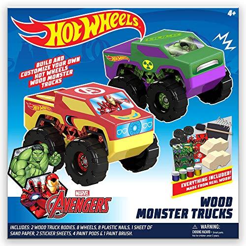 Hot Wheels Tara Toy 2pk Wood Racer - Hulk/Ironman, 58788