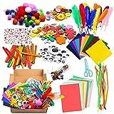 Kit Manualidades Niños Juegos de Manualidades DIY Materiales Supplies Arts Crafts Manualidades Set Incluye Pompón Etiqueta Engomada del Diamante Flor de burbuja para Chicos Chicas