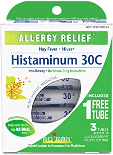 Boiron Histaminum Hydrochloricum 30C (Pack of 3 80-Pellet Tubes) Homeopathic Medicine for Allergy Relief
