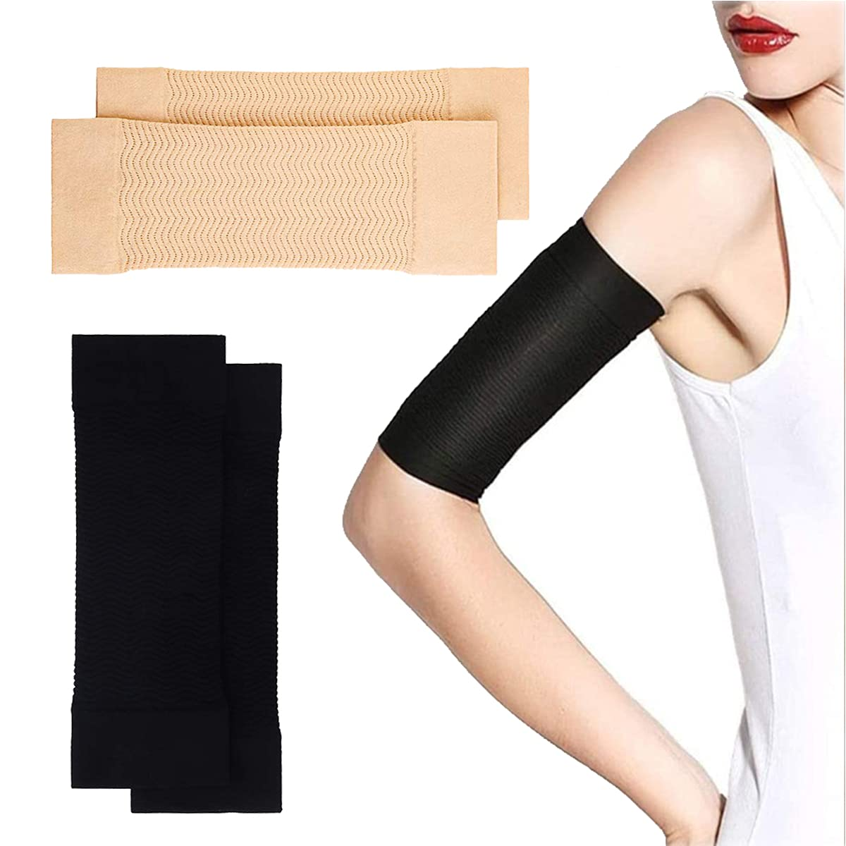 2 Pairs Arm Slimming Shaper W Compression free Sleeve Max 63% OFF Wrap