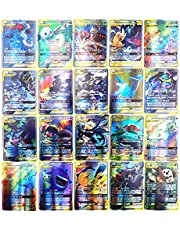 AUMIDY Pokemon kaarten, 100 stuks verzamelkaarten, Pokémon-kaartenset, 95 GX-kaarten en 5 Mega, Ultra Beast GX EX-tag-teamkaarten, mega-trainerkaarten, zeldzame energiekaarten