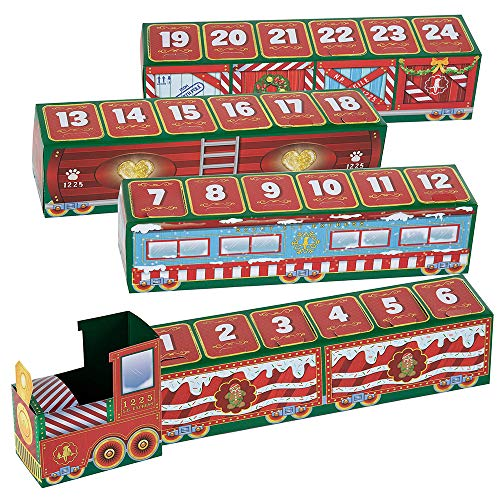 Heyzen 24 Days Countdown Christmas Elf Train Toys,Best Advent Calendar for Family Fun 2020 Suitable Toy for Boys and Girls