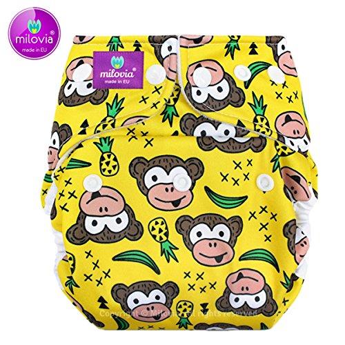 Milovia Prefold Funky Monkey, mutandina copripannolino per neonato (2,5 - 7 kg)