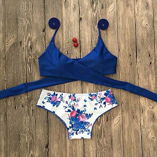 Bikini Halter Swimwear Bikini Tanga Bikini Blue Set Mujeres Bikini Brasileño Traje De Baño Femenino Biquinis Push Up Swimsuit L 9