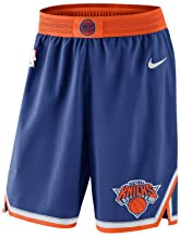 Nike Mens New York Knicks Shorts Blue/Orange 866403 495
