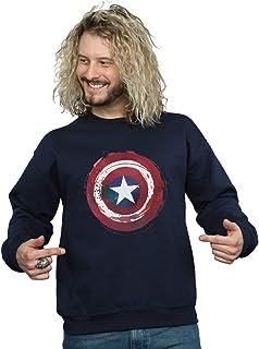 Marvel Men's Captain America Splatter Shield Sweatshirt