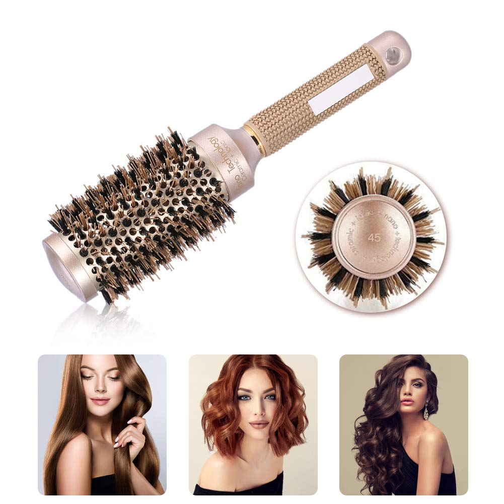 Ceramic Round Brush Gold Hairdressing Hair It is very popular Hairsty Quantity limited Curling
