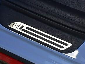 Umbrales De Acero para i30 N - 2 Piezas Molduras Protección Inox Metal Cepillado Interior Personalizados Hechos a Medida Tuning i30N Accesorios