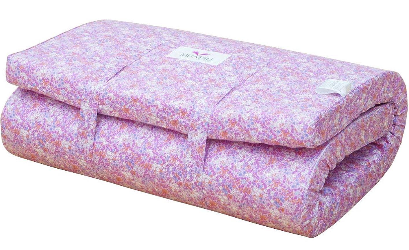枕模索銀行西川 ムアツ布団 シングル ムアツふとん 80mm 1フォーム160 日本製 敷布団 (ピンク)
