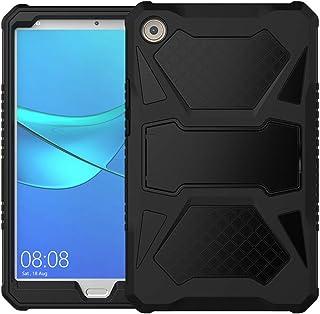 جراب Foluu متوافق مع Huawei MediaPad M5 8.4، سيليكون شديد التحمل هجين + غطاء واقي صلب مقاوم للصدمات مع مسند لهاتف Huawei M...