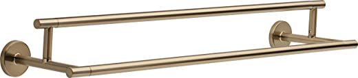✅Delta Faucet 75925-CZ Trinsic 24inch Double Towel Bar Rack, Champagne Bronze #Tools & Home Improvement Hardware