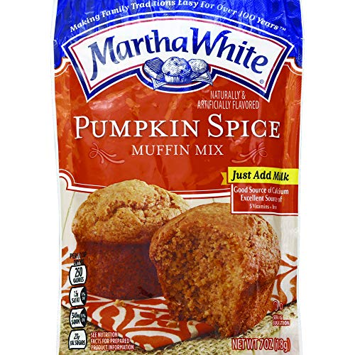 Martha White Pumpkin Spice Muffin Mix, 7 Ounce (Pack of 12)