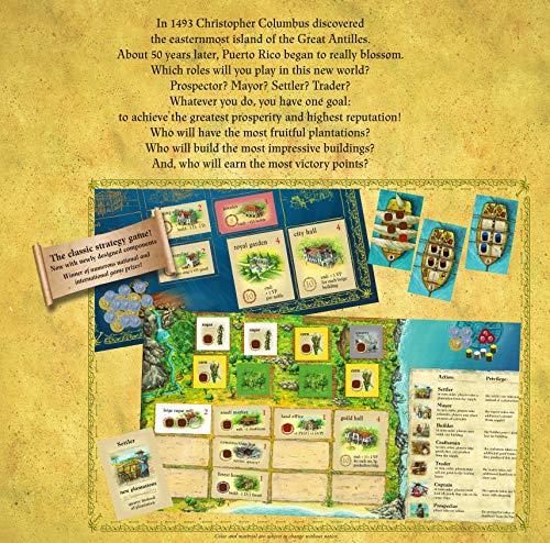 Rio Grande Games RGG569 Puerto Rico Deluxe, Multi-Colored: Amazon ...