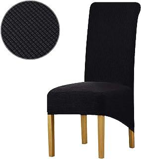 KELUINA Fundas para sillas de Comedor elásticas Spandex,