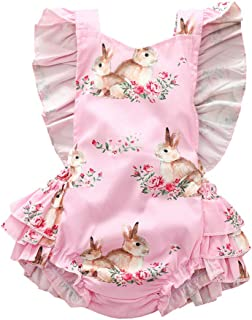 Toddler Baby Girls Sleeveless Sundress Cute Rabbit Casual Princess Summer Dress Jchen for 0-24 Months Girls, TM