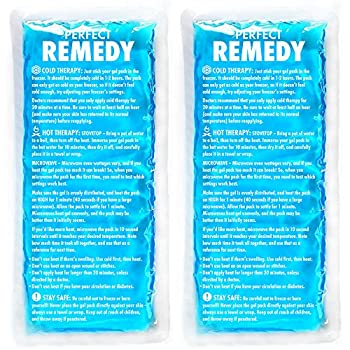 Gel Ice Packs for Injuries  2 Pack  – Reusable Hot & Cold Compress for Injury Pain Relief Rehabilitation Flexible Therapy for Knee Shoulder Back Neck Ankle