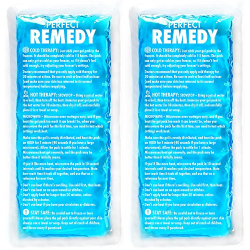 Gel Ice Packs for Injuries (2 Pack) - Reusable Cold/Hot Compress for Injury, Pain Relief, Rehabilitation, Flexible Therapy for Knee, Shoulder, Back, Neck, Ankle