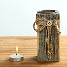 F Fityle Driftwood Tea Light Candle Holder W/Unremovable