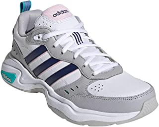 adidas Women's Strutter Fashion Sneakers Cloud White/Dark Blue/Clear Pink 8.5