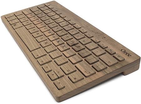 OREE Junta – Teclado inalámbrico de madera – Alta calidad fabricado en Francia marrón Walnut Mac