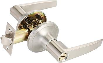 Deurslot Invoerhendel Deurhandgreep met Lock Keyed Entry Home Gebruik koperen binnendeurslot met 3 sleutels accessoire-too...