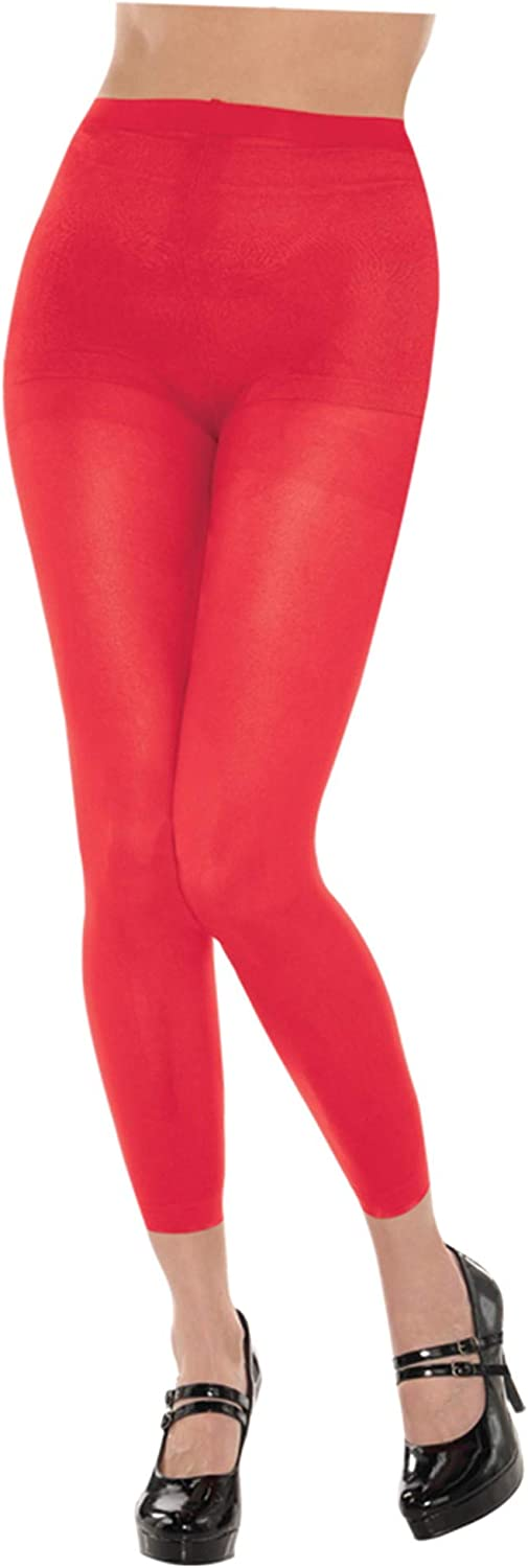 Amscan Footless Tights Ranking TOP14 Attention brand - Accessory Party Adult Red
