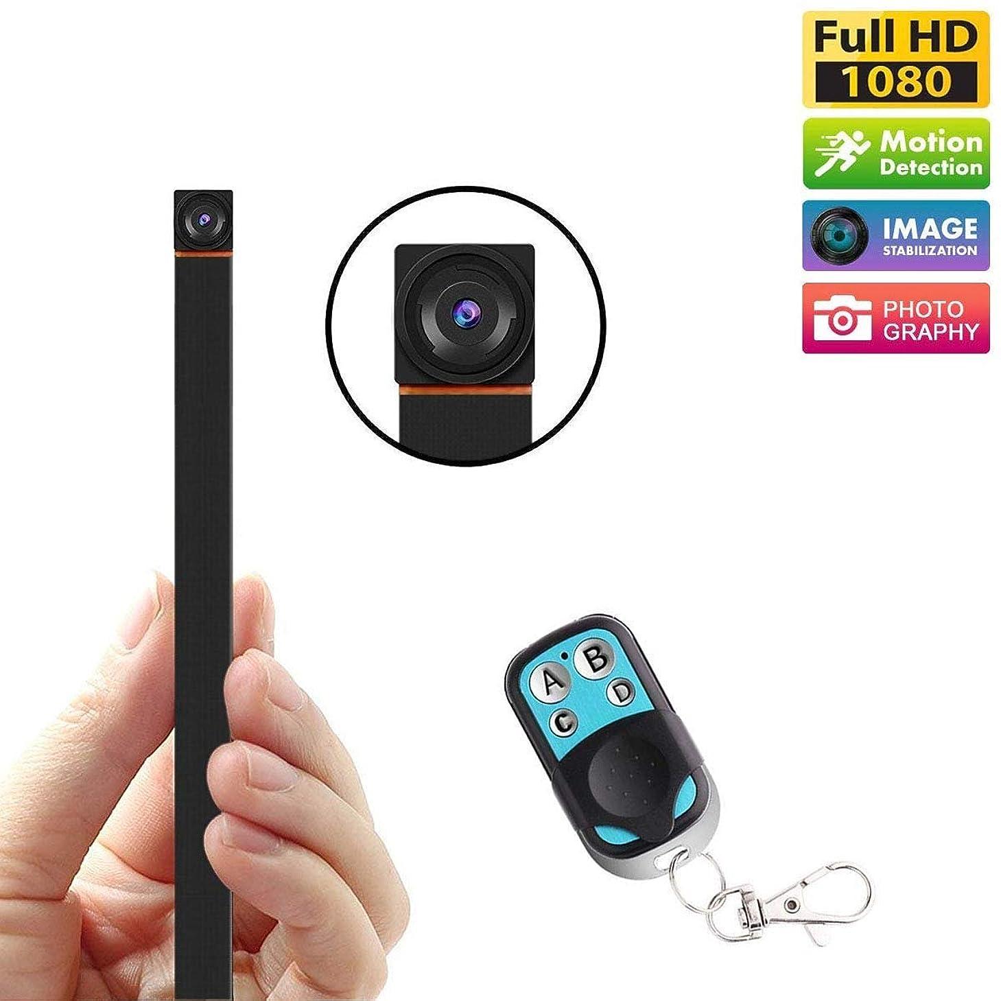 ティーンエイジャージャニスこっそり超小型カメラ ミニスパイ隠しカメラのHD 1080 p小型ビデオレコーダーホームセキュリティ監視カメラ隠密小さな乳母カムモーション検出リモコン付き (Color : +128G memory card)
