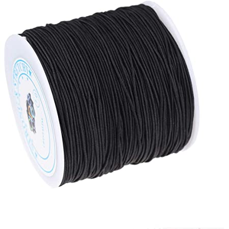 Amaney 1 mm Elastic Cord Beading Threads Stretch String Fabric Crafting Cords for Jewelry Making 5 Colors